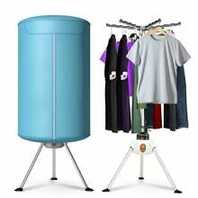 Portable Ventless Laundry Clothes Dryer Heater 900W Electric Folding Indoors Fas