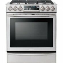Samsung 30  Stainless Steel Slide In Convection Gas Range