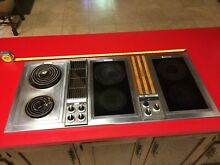 Jenn Air 48  3 Bay Downdraft Electric Convertible Cooktop Indoor Grill