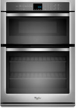 New Whirlpool WOC95EC0AS SS 30   Double Wall Electric Convection Oven  Microwave