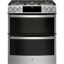 GE Profile 30  Stainless Steel Slide In Double Oven Gas Range