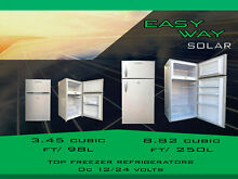 SOLAR TOP FREEZER REFRIGERATOR OFF GRID DC 12 24 Volts