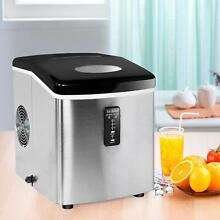 Countertop Stainless Steel Ice Maker Compact Ice Cube Machine Home Dorm Kitchen