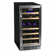 Edgestar   26 Bottle 15  Built In or Free Standing Wine Cooler   Dual Zone