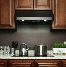 AKDY 30  400 CFM Ducted Kitchen Under Cabinet Range Hood Black Stainless Steel