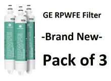 3 Pack  Genuine GE RPWFE Refrigerator Water Filter Sealed FREE Priority Shipping