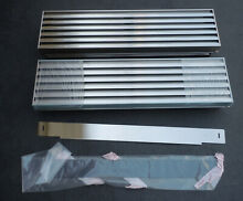 SUB ZERO Stainless Steel Pro Built In Refrigerator Freezer Louvered Top Grill