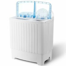 Compact Washing Machine Laundry Spin Dryer Washer Top Load Twin Tub 17 6 lbs