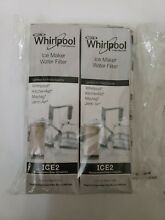 2 New In Pkg Whirlpool Ice Maker Water Filter ICE2 F2WC911