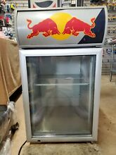 Red Bull Commercial Energy Drink Cooler Mini Fridge Table Top Man Cave