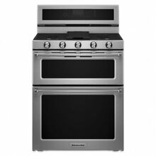 KitchenAid 30  Stainless Steel Freestanding Gas Double Oven Convection Range