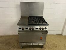 Wolf 4 Burner With Oven and Hotplate Natural Gas On Wheels Tested