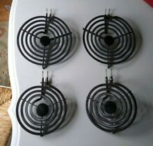 4  GE ELECTRIC Range Stove Burner Coils 8  Large   6  Small Elements PLTO59 2