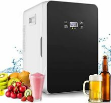 Mini Fridge with Freezer Refrigerator Dorm Room Party Cooler Small Office 20L