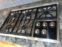 Wolf CG365T S 36 Inch Transitional Gas Cooktop with 5 Dual Stacked Sealed Burner