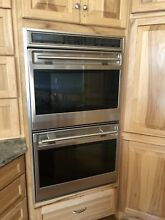 Wolf L Series 30  SS 4 5 Dual Convection Ovens Double Electric Wall Oven DO30FS