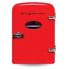 Red Frigidaire Portable Retro Extra Large 9 Can Mini Chiller Fridge Car home