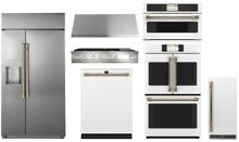 GE Cafe Pro Kitchen with 48  Rangetop and 42  Built In Refrigerator