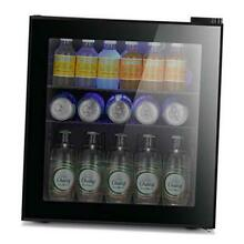 Mini Fridge Cooler   60 Can Beverage Refrigerator Glass Door   Glass Door Small