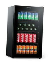 Beverage Refrigerator Cooler Beer Fridge  Drink Fridge with 3 Layer Glass Door