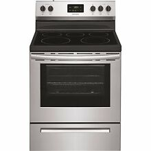 Frigidaire 30 in  5 3 cu  ft  Rear Control Electric Range in Stainless Steel