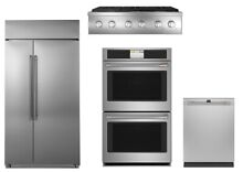 GE Cafe Kitchen Package w 42  Built In Refrigerator and Rangetop   Double Oven