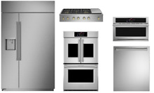 Monogram Pro Package with 48  Gas Rangetop  30  Double Oven   48  Refrigerator