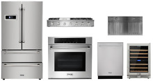 Thor Package with 48  Rangetop  30  Wall Oven and 36  Refrigerator
