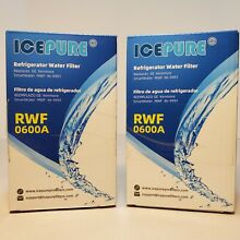 Ice Pure RWF0600A Water Filter for GE  Kenmore Refrigerator MWF Lot of 2