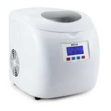 Portable Ice Cube Maker Automatic with LCD Display 3 Cubes Sizes White Silver