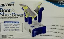 New Nuvent Boot and Shoe Electric Dryer Black DC MODEL SD1001  21