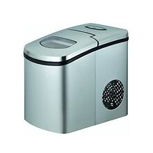NutriChef PICEM25 Ice Maker Countertop Ice Cube Machine  Stainless Steel