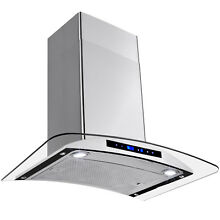 30  Stainless Steel Wall Mount Range Hood Stove Vent With Aluminum Mesh Filter