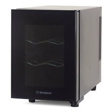 Westinghouse 6 Bottle Thermal Electric Wine Cellar Refrigerator Cooler  Black