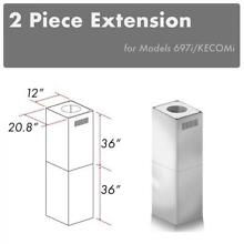 ZLINE ISLAND CHIMNEY EXTENSION up to 12ft ceiling KECOMi  697i  2PCEXT