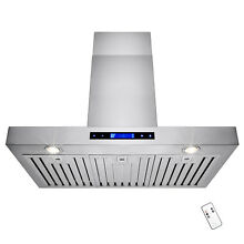 36  Stainless Steel Wall Mount Range Hood Stove Vent With Steel Baffle Filters