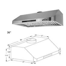 THOR 36 in Stainless Steel Under Cabinet Range Hood 900CFM Cooking Vent E9Q4