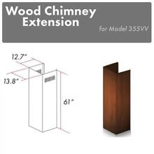 ZLINE Wooden Wall Chimney Extension for 12 5 ft ceiling model 355VV E
