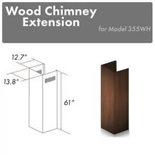 ZLINE Wooden Wall Chimney Extension for 12 5 ft ceiling model 355WH E