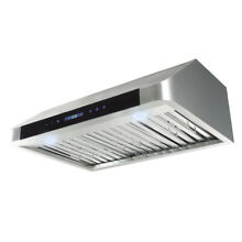 30  Under Cabinet Stainless Steel 3 Speeds Touch Control Hood LED Screen Stove