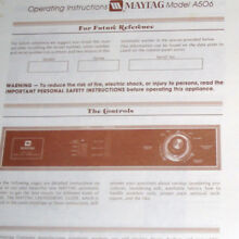 MAYTAG WASHER A506  OEM USED PARTS  please use pull down menu