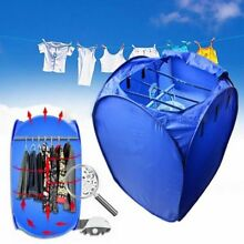 800W Portable Electric Air Clothes Dryer Folding Fast Drying Machine Bag Box