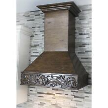 ZLINE 30  DESIGNER CARVED SOLID WOOD WALL RANGE HOOD CROWN MOLDING 373NN 30