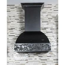ZLINE 36  DESIGNER CARVED WOOD WALL RANGE HOOD LED CROWN 1200 CFM  393AA 36