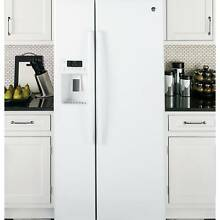 GE APPLIANCES ENERGY STAR 23 2 CU  FT  SIDE BY SIDE REFRIGERATOR