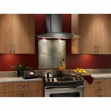 Broan 30 inch Stainless Steel and Glass Chimney Wall Hood