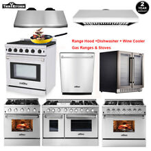 Thor Kitchen Cooking Gas Range Stove   24  Dishwasher   Range Hood   Wine Cooler