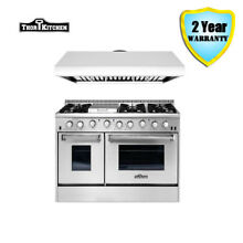 Thor Kitchen 48  Gas Range 48  Under Cabinet Range Hood Stainless Steel Cooktop