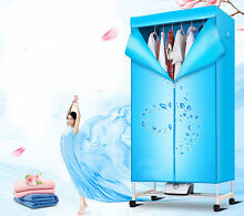 Blue Mute Portable Home Energy saving Rotary Drying Electric Air Clothes Dryer
