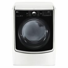 LG DLGX5001W 7 4 cu ft  Ultra Large Capacity TurboSteam Gas Dryer with On Door